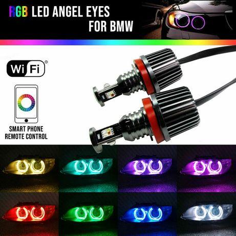 Лед крушки H8 RGB Angel Eyes