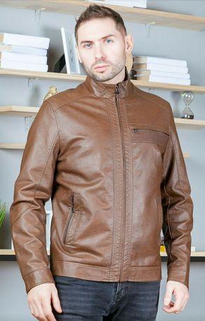 Продам новую мужскую куртку из искусственной кожи