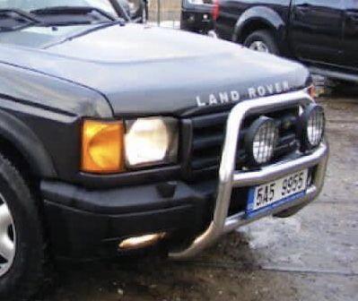 Bullbar Bull-Bar inox original cu proiectoare Land Rover Discovery