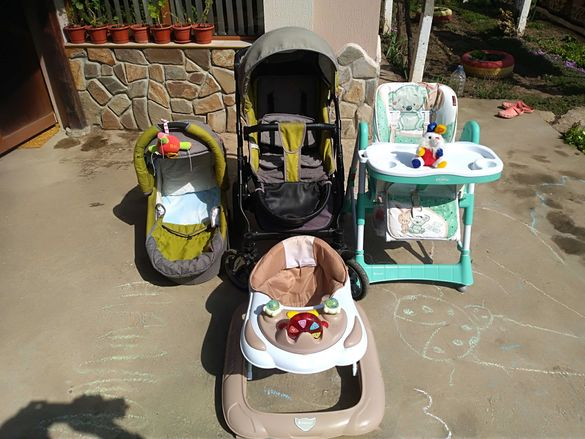 Детската количка зима, лято