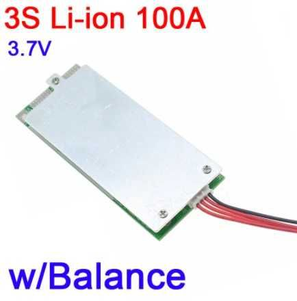 BMS 3S 100A modul incarcare acumulatori Li-ion 18650 BMS cu balansare