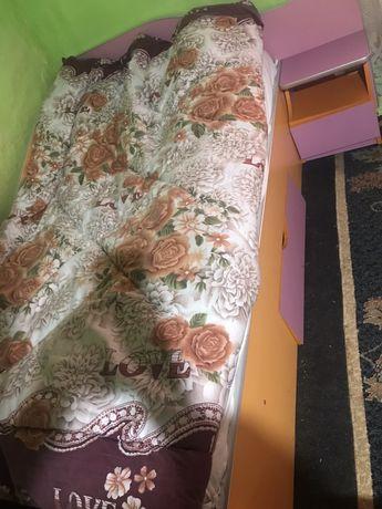 Pat-Dormitor + saltea Dormeo