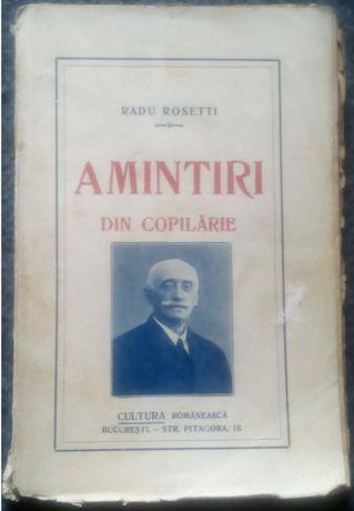 Radu Rosetti - Amintiri din copilarie