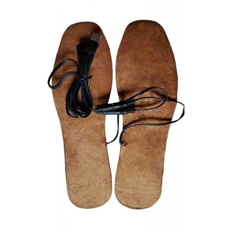 Универсални загряващи USB стелки за обувки или пантофи