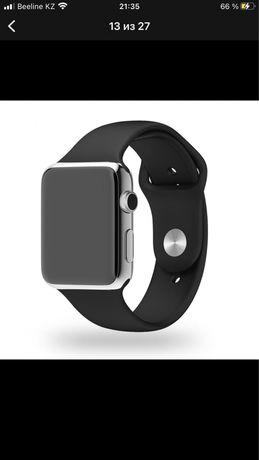 Силиконовый ремешок на Apple Watch 1000 тг!