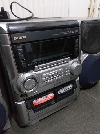 Combina Aiwa cu cd și caseta