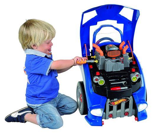 Hot Wheels Кола за Ремонтиране на Двигателя Детска Сервизна Станция