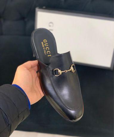 Papuci saboti Gucci piele blana naturala PREMIUM