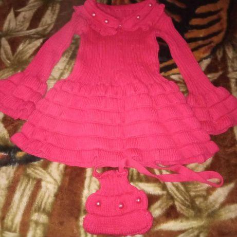 Плетена рокля за момиче
