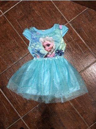 Синя рокля Елза или розова Елза с Анна за 5 ,4 и 6г