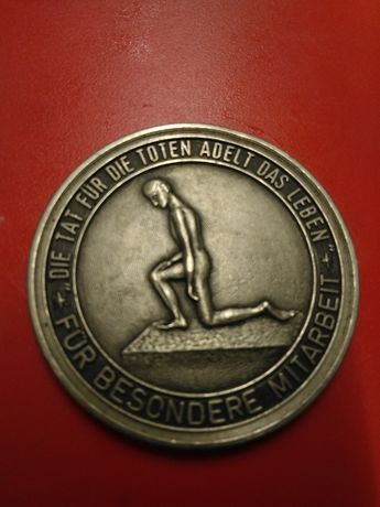 Medalie războiul volksbund deutsche kriegsgraberfursorge DDR argint