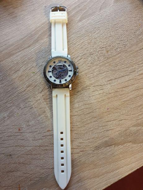 Ceas mecanic automatic Bellos alb curea silicon ceas masiv si greu