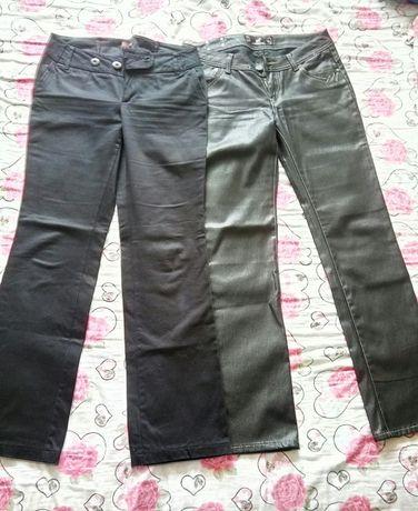 Дамски панталони сив и черен и блузи
