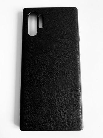 Samsung Note 10 / 10 Plus - Husa Slim Silicon Imitatie Piele Neagra