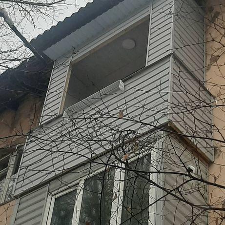 Ремонт балконов,Пластиковые окно,Утепление,Обшивка в строеные шкафы