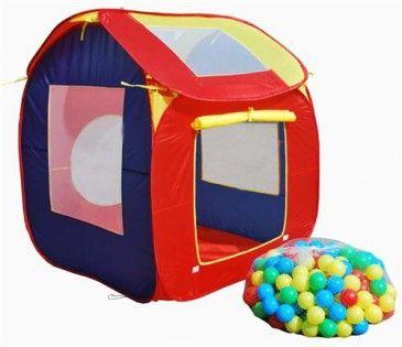 Детска палатка с 200 разноцветни топки