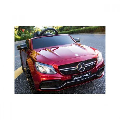 Акумулаторна кола Mercedes Benz C63 AMG, 12V, с меки гуми,