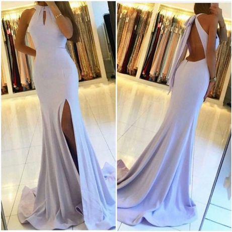 Уникална дълга рокля с гол гръб