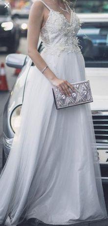 Официална бална/булчинска абитуриентска рокля и подарък чанта