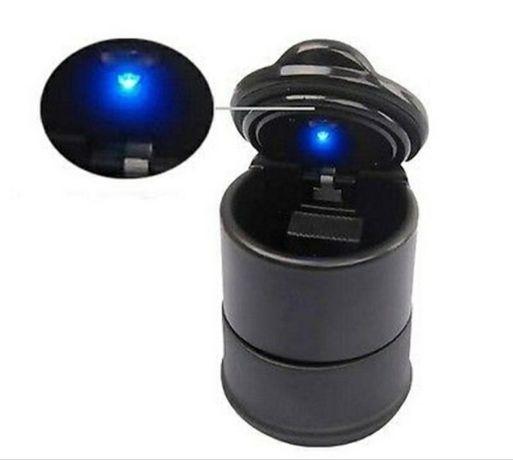 Пепелник за кола с LED лампа