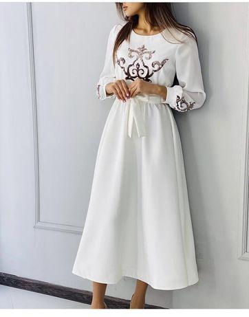 Платье + мини-саукеле на сырга салу/ узату