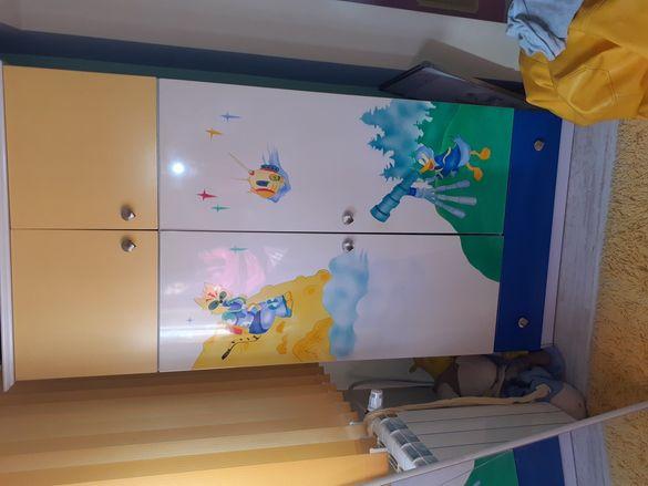 Италиански двукрилен детски гардероб