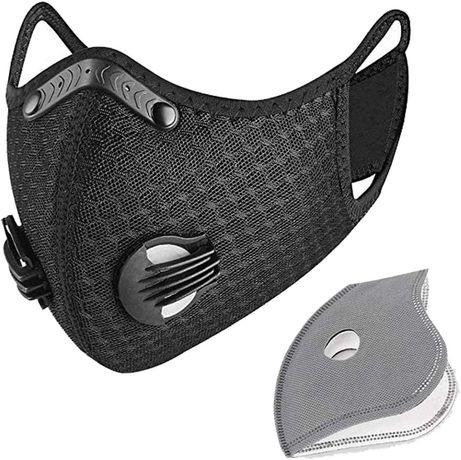 Маска с филтър за лице, спортна маска за многократна употреба с филтри