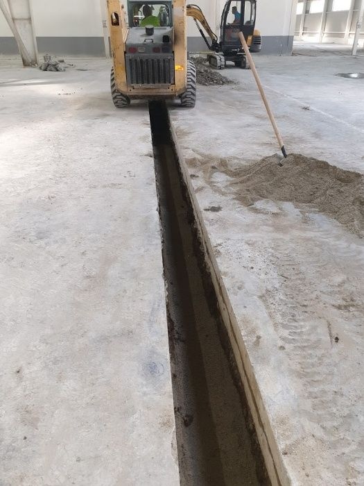 Taiere placi beton, trotuare beton sau asfalt, decupari in beton