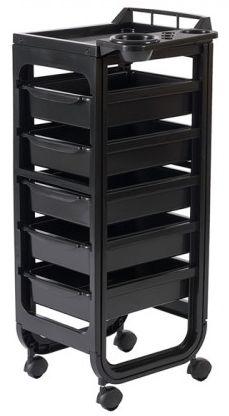 Фризьорска количка Soapi - черна 37 x 30 x 90 см - безплатна доставка