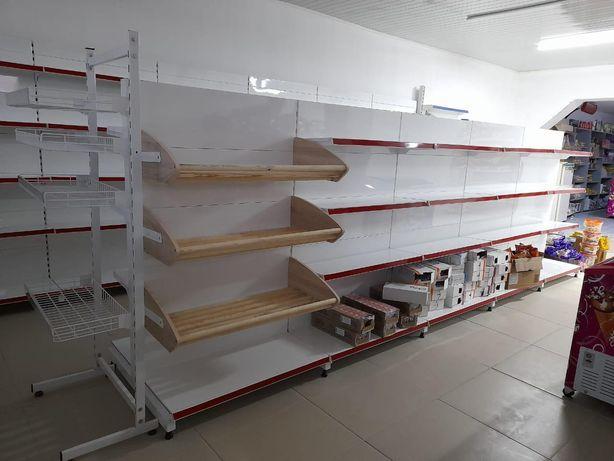 Торговые металлические стеллажи полки стеллажи прилавки торговое обору