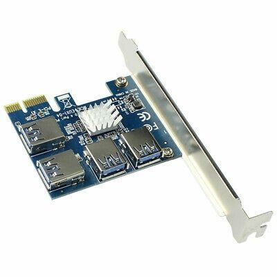 PCI x1 Adapter Riser Multiplier 1 to 4 Mining Rig