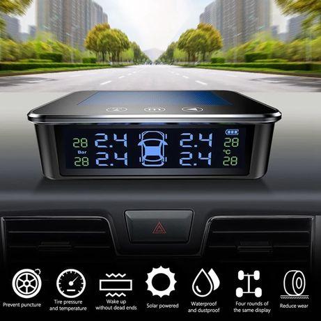 Датчик за налягане на гуми с монитор, сензор за отмерване и 4 вентила