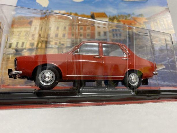 Hachette Dacia 1300 roșie scara 1:24 macheta vintage