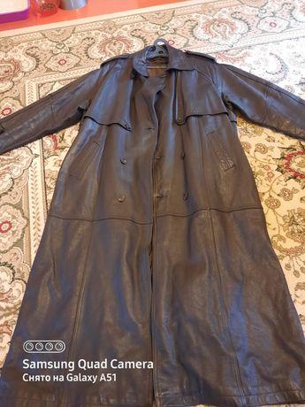 Продам кожаный плащ .Корея