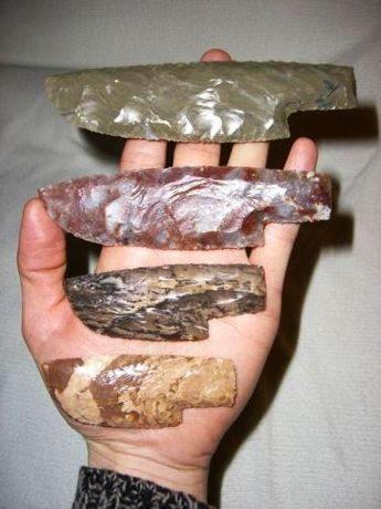 Cutit preistoric din Dragon Glass ( silex / paleolitic )
