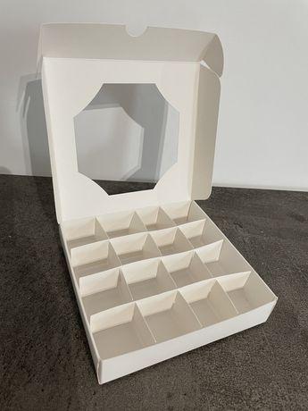 Промо !Кутия за бонбони 16 броя с разделите Кутия с прозорче за сладки