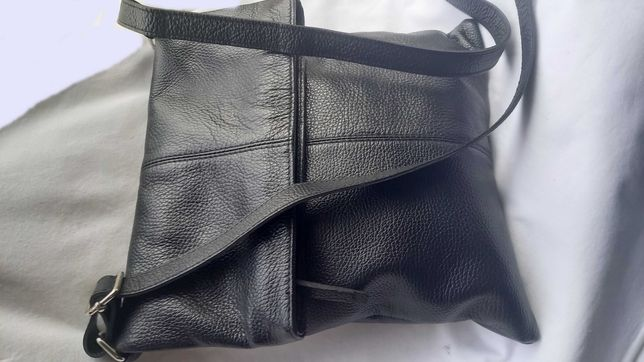 Geanta piele naturala Italia stil postas negru