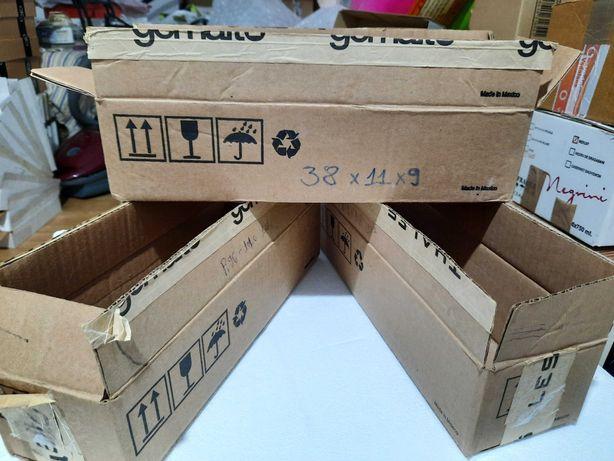 Cutie/cutii carton natur_38x11x9 cm_colete posta/curierat/coletarie