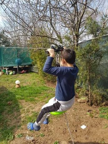 Tiroliana completa copii 20-100m 70-150 kg