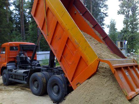 Гравий песок грунт глина щебень отсев грузоперевозки