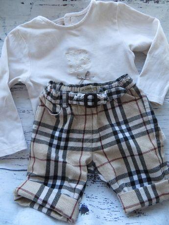 set Burberry pantaloni 3/4 si bluzita 18 M
