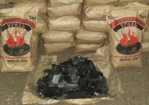 Древесный уголь, березовый (бумажный мешок)