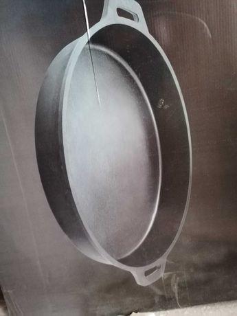 Grill fontă profesional/placă fontă /tavă fontă /tigaie fontă 63 cm