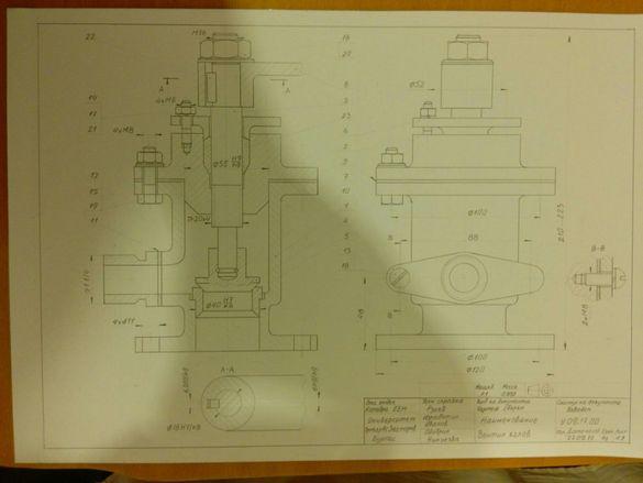 Инженерна графика, технически чертежи, триизмерни модели