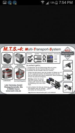 löhr m.t.s.-3 sistem prindere ghidon cos geanta mts-3