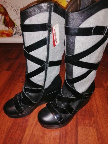 Продам новые осень-весна ботинки,натуралка  от кимех
