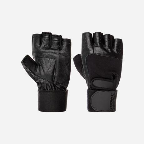 Перчатки для спорта атлетические demix с фиксатором кожаные
