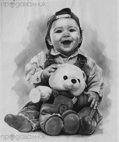 Подарък (сувенир) - портрет, картина за спомен за Вас и децата Ви