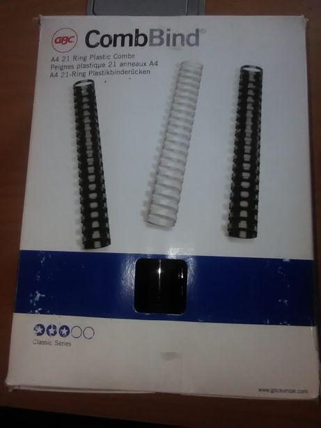 Spirale plastic indosariere GBC, 32 mm, culoare negru