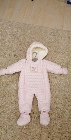 Salopeta combinezon iarna bebe 3-6 luni (68 cm)